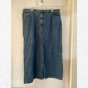 Eddie Bauer Long Denim Skirt